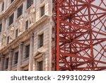 old building facade being... | Shutterstock . vector #299310299