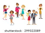 different people's characters | Shutterstock .eps vector #299322089