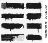 eight black grunge banners.... | Shutterstock .eps vector #29932282