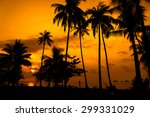 Stock photo silhouette coconut tree 299331029