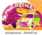 summertime funny poster. vector ...   Shutterstock .eps vector #29933716