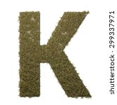letter k made of dead grass ...