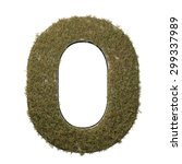 letter o made of dead grass ...