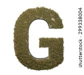 letter g made of dead grass ...