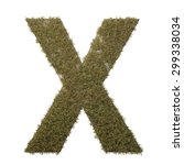 letter x made of dead grass ...