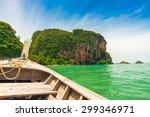 railay beach andaman sea blue... | Shutterstock . vector #299346971