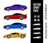 vector car icons. sport cars. | Shutterstock .eps vector #299348864