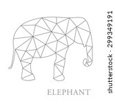 elephant abstract isolated on a ... | Shutterstock .eps vector #299349191