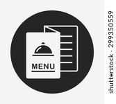 menu icon | Shutterstock .eps vector #299350559