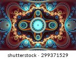 Abstract Fractal. Multicolored...