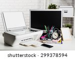 working place of a business... | Shutterstock . vector #299378594