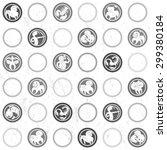 retro black and white pattern... | Shutterstock .eps vector #299380184