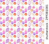 pepino melon  dragonfruit ... | Shutterstock . vector #299381081