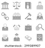 an original collection of law... | Shutterstock .eps vector #299389907