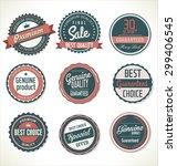 premium  quality retro vintage... | Shutterstock .eps vector #299406545
