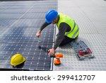 photovoltaic | Shutterstock . vector #299412707