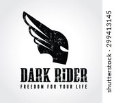 dark rider warrior army car... | Shutterstock .eps vector #299413145