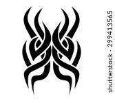 tribal tattoos design element.... | Shutterstock .eps vector #299413565