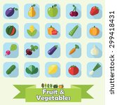 fruit and vegetable flat icon... | Shutterstock .eps vector #299418431