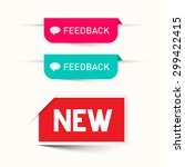 feedback and new vector paper... | Shutterstock .eps vector #299422415