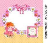 baby shower for girl with... | Shutterstock . vector #299422739