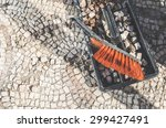 archaeologists recover... | Shutterstock . vector #299427491