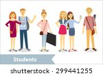 students. vector characters in... | Shutterstock .eps vector #299441255