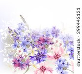 Floral Clear Background  Blue ...