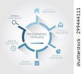 infographic template circular ... | Shutterstock .eps vector #299444111