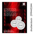flyer template  | Shutterstock .eps vector #299445344