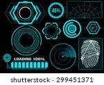 sci fi futuristic user... | Shutterstock .eps vector #299451371