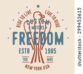 vintage retro t shirt apparel... | Shutterstock .eps vector #299453615