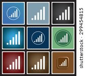 signal strength indicator. icon.... | Shutterstock .eps vector #299454815