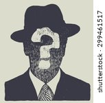 silhouette of an unknown man in ... | Shutterstock .eps vector #299461517