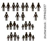 family icons set in vector | Shutterstock .eps vector #299462657