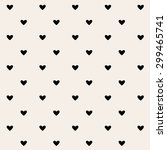 hearts pattern | Shutterstock .eps vector #299465741