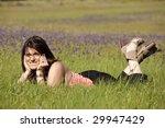woman enjoying life in a green... | Shutterstock . vector #29947429
