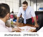 bad tempered caucasian business ... | Shutterstock . vector #299481071