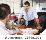 bad tempered caucasian business ...   Shutterstock . vector #299481071