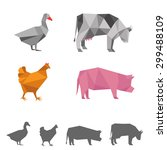 Vector Farm Animals  Origami...