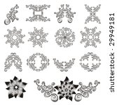set of decorative floral... | Shutterstock .eps vector #29949181