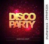 typography disco background.... | Shutterstock .eps vector #299495204