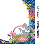 easter basket  bunny and... | Shutterstock .eps vector #2995014