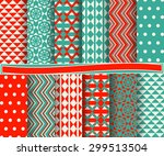 set of abstract vector paper... | Shutterstock .eps vector #299513504
