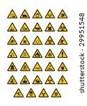 warning pictogram on white... | Shutterstock .eps vector #29951548