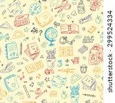 back to school. seamless... | Shutterstock .eps vector #299524334