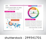 layout magazine  vector  | Shutterstock .eps vector #299541701