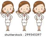 cute female doctor set ...   Shutterstock . vector #299545397