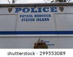 staten island  usa   november 4 ... | Shutterstock . vector #299553089