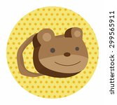 baby travel bear bag theme... | Shutterstock . vector #299565911